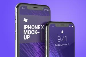 iPhone X手机屏幕UI界面设计局部效果图样机05 iPhone X Mockup 05插图4