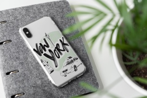iPhone Xs透明手机壳外观设计效果图样机v2 iPhone Xs Clear Case Mock-Up vol.2插图4