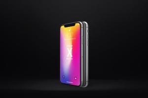 多角度iPhone X智能手机样机 Phone X Realistic Mock-Ups插图3