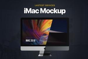 2019款iMac电脑一体机样机模板 iMac 2019 Mockup插图1