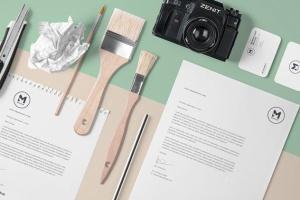 4组企业办公文具等距场景品牌样机套装 4 Stunning Stationery Mockups Set插图3