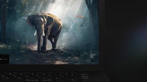 黑色超级笔记本屏幕预览样机模板 Black Laptop Mockup插图15