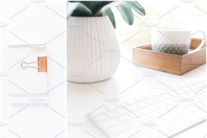 办公场景博客社交媒体贴图样机 NEW   Minimalist Stock Photo Bundle插图2