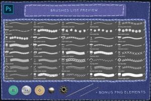 仿真缝纫和刺绣针织效果Photoshop套件 Sewing & Embroidery Photoshop Kit插图4
