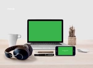 响应式网页设计预览样机套件 Responsive Mock-Up Web Display Kit插图6