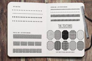 素描线条纹理&AI笔刷 Fine Liner – Affinity Brushes插图(7)