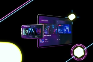 霓虹灯背景iPhone XS & iPad Pro样机模板 Neon iPhone XS & iPad Pro插图7