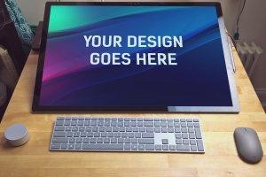 微软studio工作站样机展示模型mockups插图2