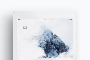 iPad平板电脑屏幕界面设计演示预览效果样机02 Clay iPad 9.7 Mockup 03插图3