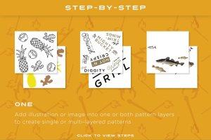 快捷图案纹理背景生成器 PSD Pattern Creator插图2