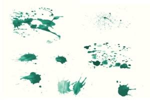 94种水彩艺术图案AI笔刷 Watercolor Vector Art Brushes插图9