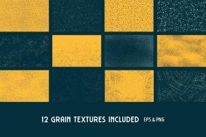 用于Illustrator的复古明暗效果纹理&噪点笔刷 Shader Brushes for Illustrator插图(9)