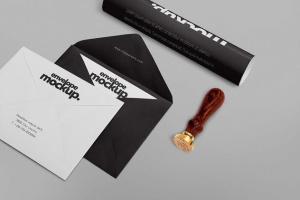 高级企业办公文具套装设计样机 6 Stationery Design Mockups插图2
