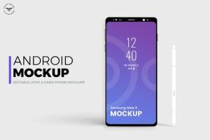 安卓平台概念智能手机样机模板 Android Mobile Mockups插图3