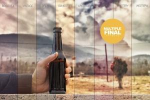 手持啤酒瓶外观印刷图案设计预览样机模板 Rustic Beer Mockup插图5
