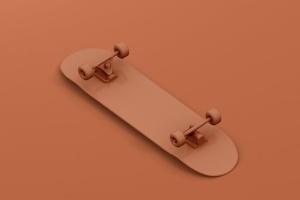 极限运动滑板图案设计样机 Skateboard Mockup插图4