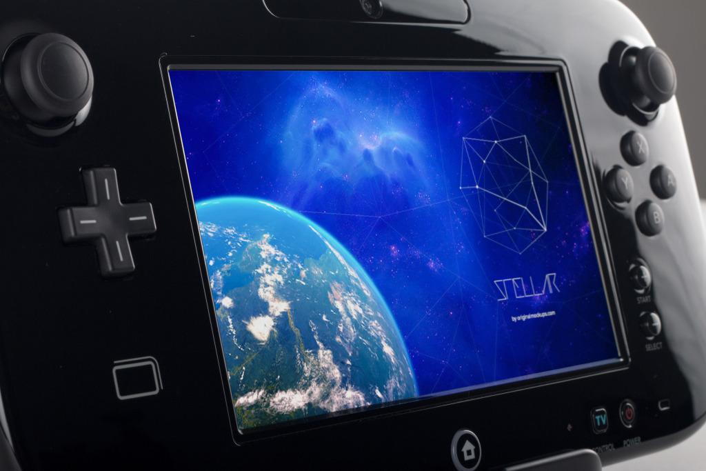 Wii U Deluxe游戏手柄样机01 Wii U Deluxe Gamepad Mockup 01插图
