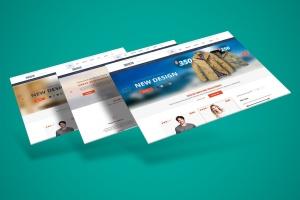 网站界面设计截图3D预览样机模板v3 3D Web Presentation Mockup (V3)插图1