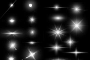 镜头眩光&星光效果PS笔刷 Lens Flare & Stars Photoshop Brushes插图2