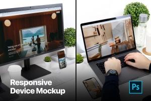 响应式页面设计多设备样机模板 Responsive Device Mockup插图1