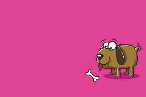 小狗&骨头矢量插画设计素材 Dog and Bones Illustration Artwork Vector插图2