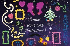 梦幻童话手绘矢量插画素材包 Fairy Tale Illustration Bundle插图2