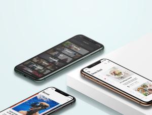 一流设计素材网下午茶:等距iPhone 11 pro场景展示样机插图4