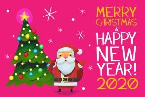 世界各地圣诞老人卡通形象设计矢量素材 Santas of the world插图2