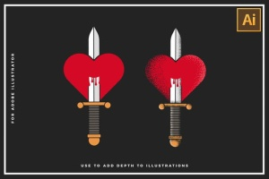 30款点画效果设计AI笔刷 Stipple Brushes For Illustrator插图(3)