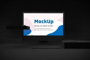 暗黑背景iMac Pro苹果一体机电脑样机模板 Dark iMac Pro插图2