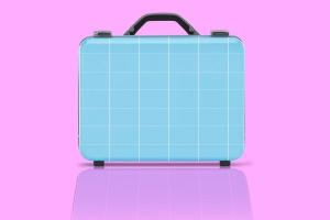 商务旅行手提箱/行李箱外观设计样机模板 Business suitcase Mockup插图1