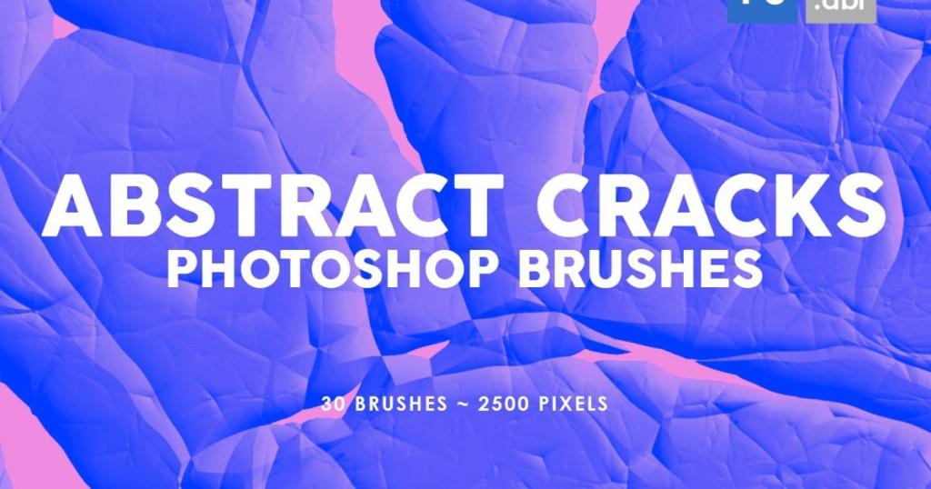 30个抽象裂缝PS印章笔刷合集 30 Abstract Cracks Photoshop Stamp Brushes插图
