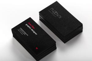 黑色企业&工作室名片设计效果图样机模板01 Black Business Cards Mockup 01插图1