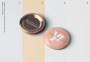 别针徽章胸章定做设计样机模板 Pin Button Badge Mockup插图9