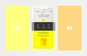 极简主义设计风格APP设计图样机模板 Minimal Flat App Presentation Mockup插图1