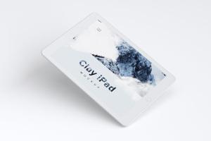 iPad平板电脑屏幕预览UI设计效果图样机01 Clay iPad 9.7 Mockup 01插图1