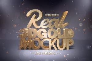 炫酷金属3D特效PSD样机模板v1 Real 3D text Mockups V1插图2