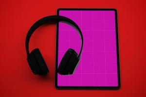 音乐APP界面设计效果图iPad Pro平板电脑样机模板 iPad Pro Music App插图9