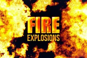 80款逼真火焰图形PS笔刷 80 Photorealistic Fire Explosions插图1
