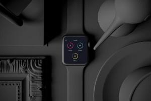 时尚深色Apple智能手表样机模板 Dark Apple watch插图7