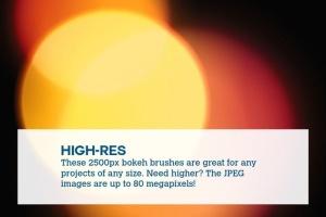 80+款照片后期处理散景效果圆点PS笔刷 Boke-Aji – 80 Large Bokeh Brushes插图3