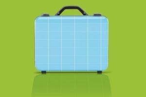 商务旅行手提箱/行李箱外观设计样机模板 Business suitcase Mockup插图3