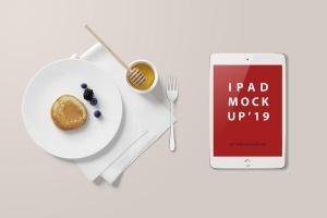 高品质的早餐场景的iPad Mini样机UI展示模型mockups插图3