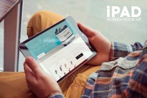 ipad平板电脑屏幕样机模板 iPad Screen Mockup插图1