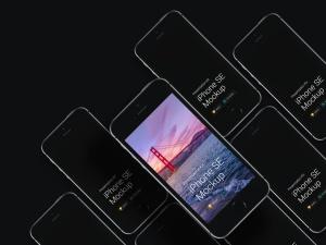 超级主流桌面&移动设备样机系列:iPhone SE 智能手机样机 [兼容PS,Sketch;共3.13GB]插图6