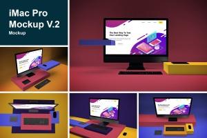 一体机电脑iMac Pro屏幕演示样机模板v2 iMac Pro Mockup V.2插图1