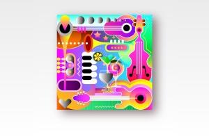 音乐主题抽象矢量艺术插画设计素材 Musical Background Design vector illustration插图1