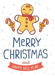 圣诞节&新年庆祝主题简易矢量手绘图形素材 Collection of Christmas cards插图5