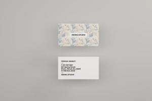 空中漂浮企业名片设计效果图预览样机 Flying Business Card Mockups插图2