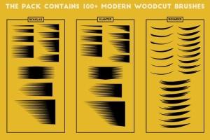 现代木刻设计风格AI笔刷 Modern Woodcut Brushes插图9